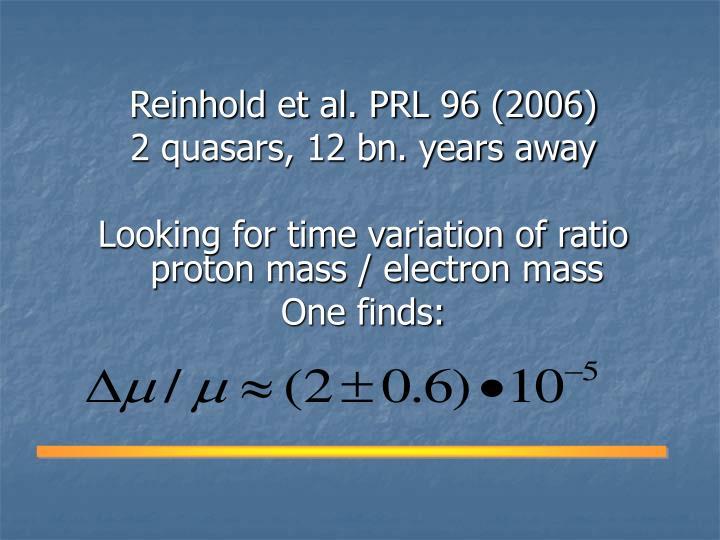 Reinhold et al. PRL 96 (2006)