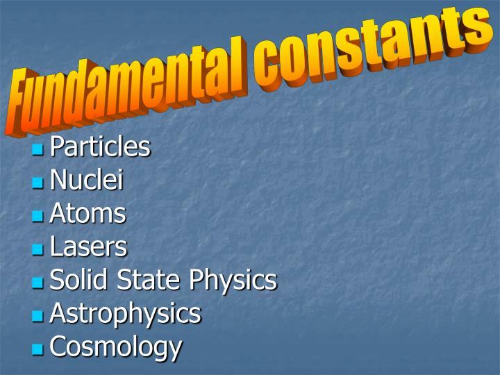 Fundamental constants