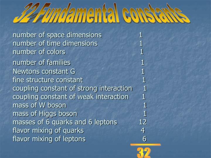 32 Fundamental constants