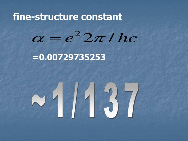 fine-structure constant