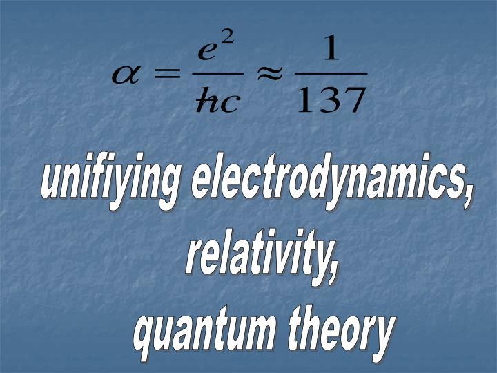 unifiying electrodynamics,