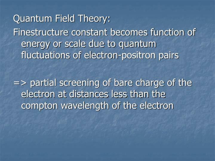 Quantum Field Theory: