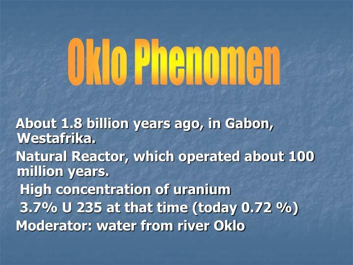 Oklo Phenomen