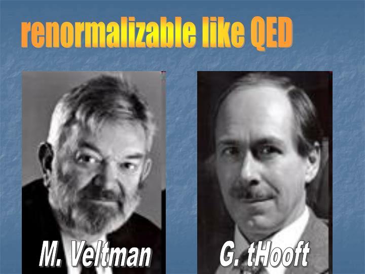 renormalizable like QED