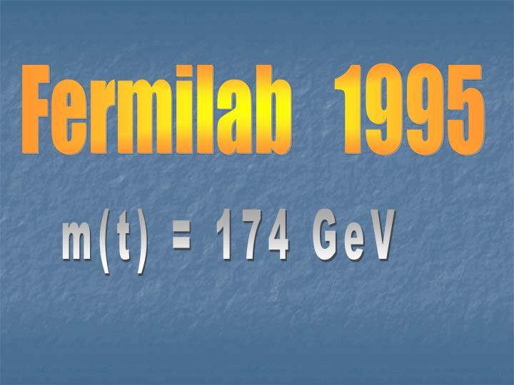 Fermilab   1995