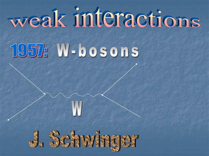 weak interactions
