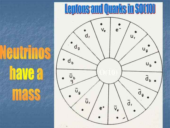 Leptons and Quarks in SO(10)