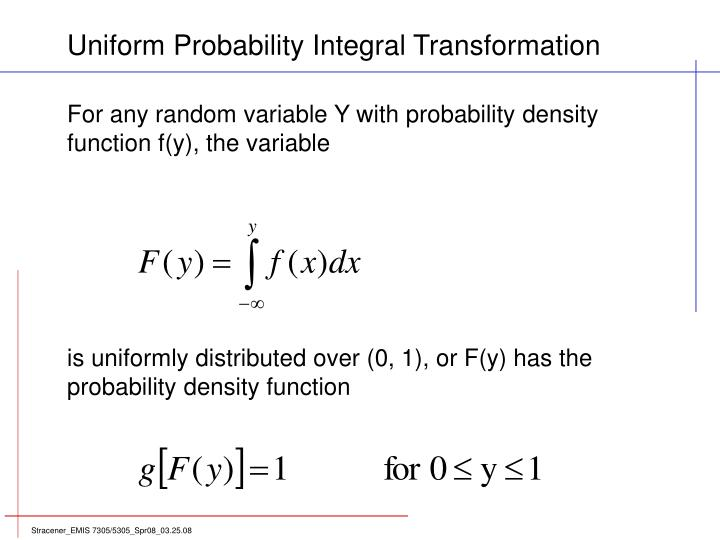 For any random variable Y with probability density
