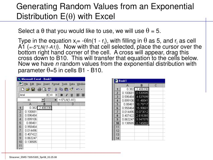 Generating Random Values from an Exponential