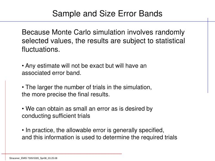 Sample and Size Error Bands