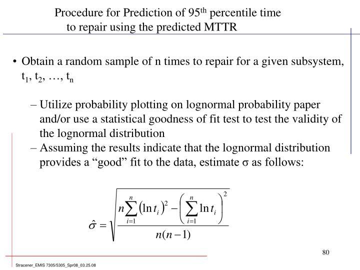 Procedure for Prediction of 95