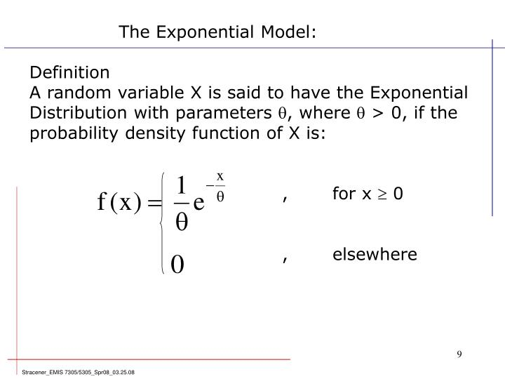 The Exponential Model: