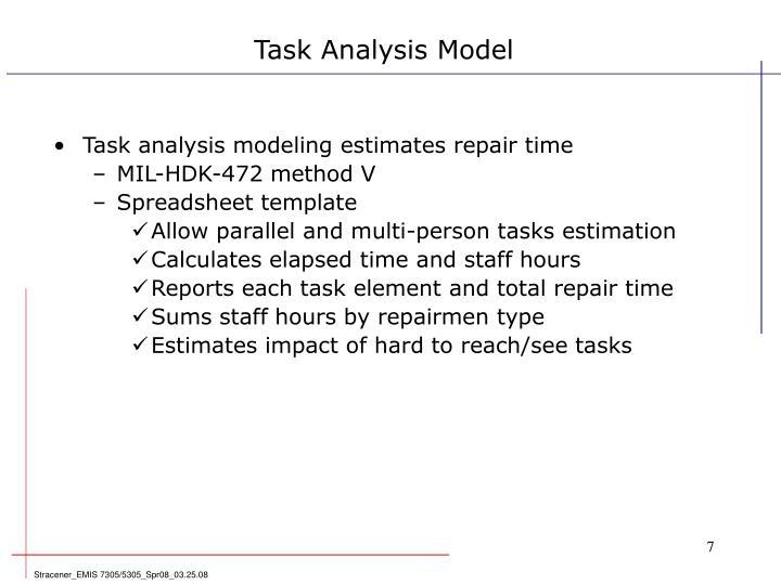 Task Analysis Model