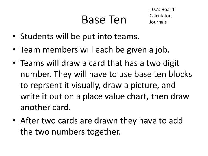100's Board