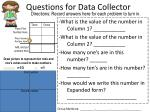 questions for data collector