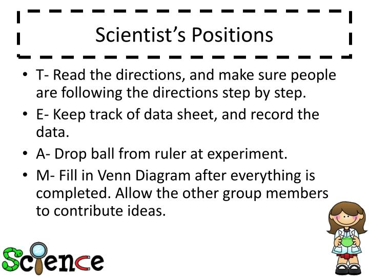 Scientist's Positions