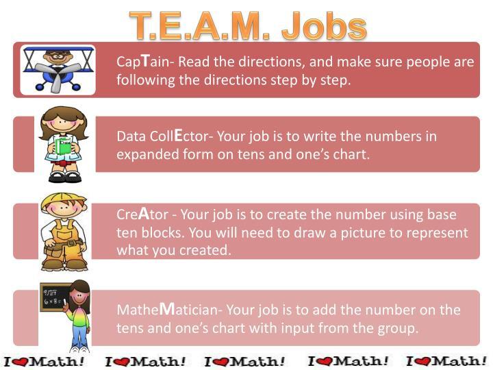 T.E.A.M. Jobs