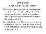 tens ones understanding ten twenty