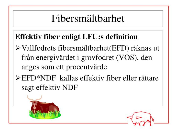 Effektiv fiber enligt LFU:s definition