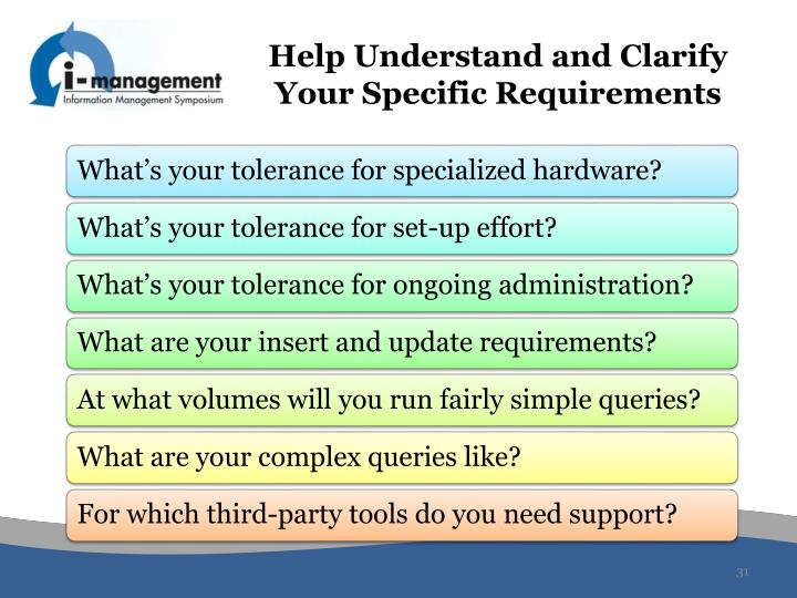 Help Understand and Clarify Your Specific Requirements