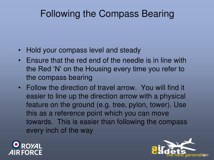 Following the Compass Bearing