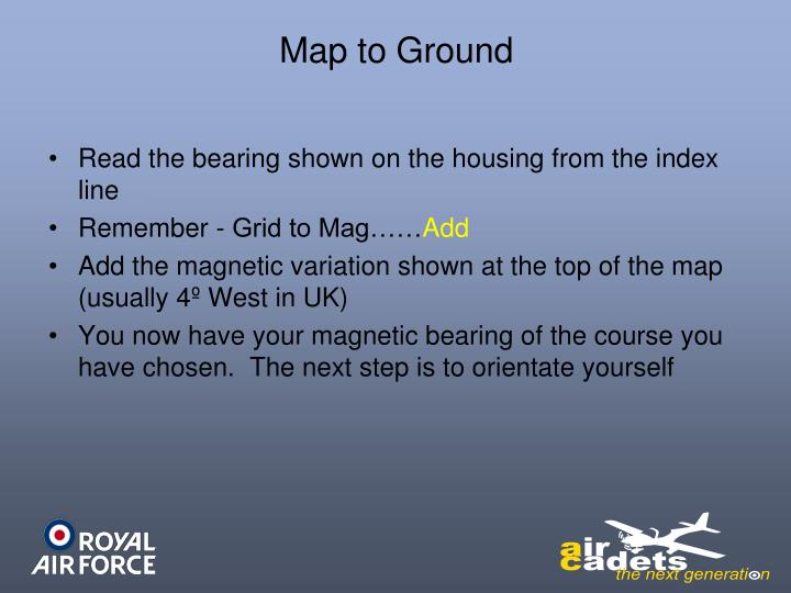Map to Ground