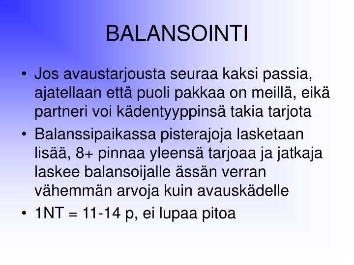 BALANSOINTI