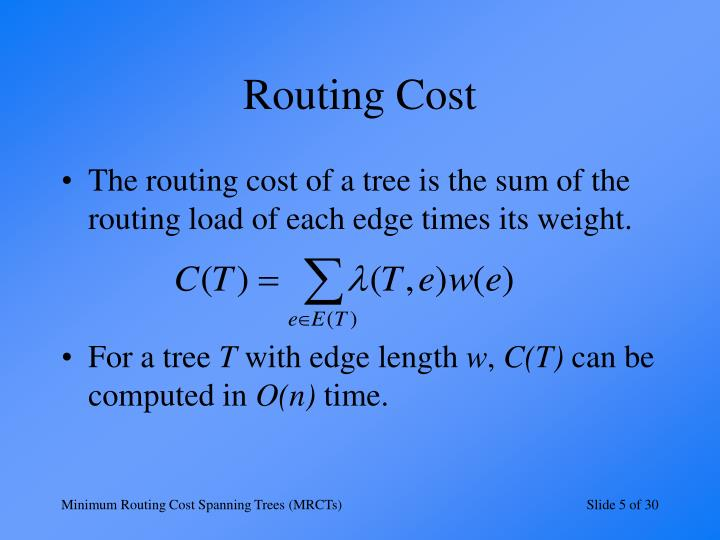 Routing Cost