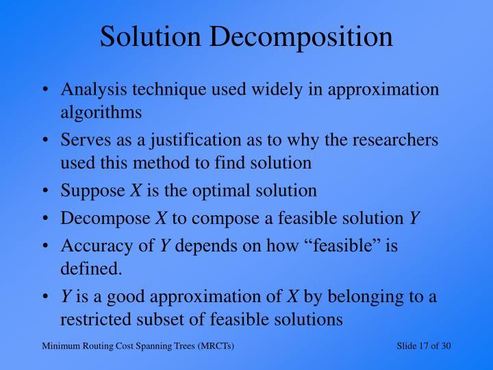 Solution Decomposition