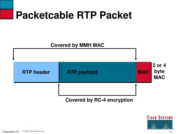 Packetcable rtp packet