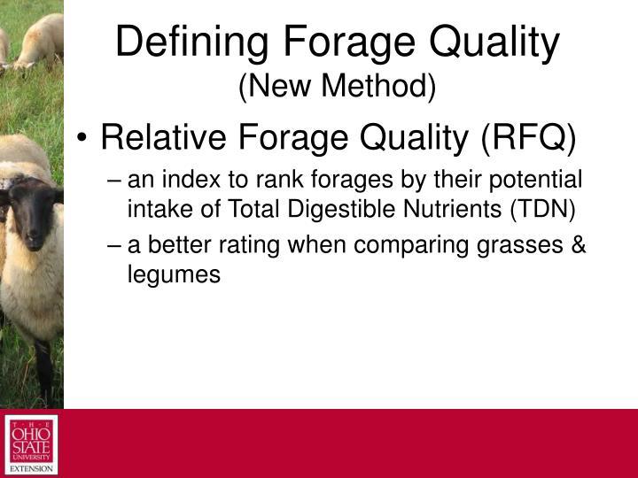 Defining Forage Quality