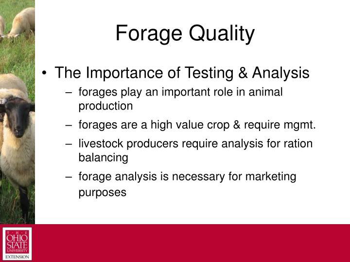 Forage Quality