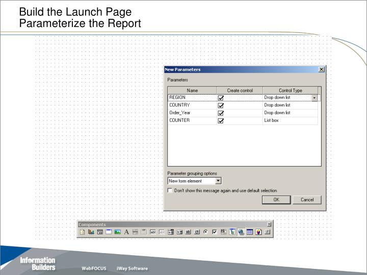 Build the Launch Page