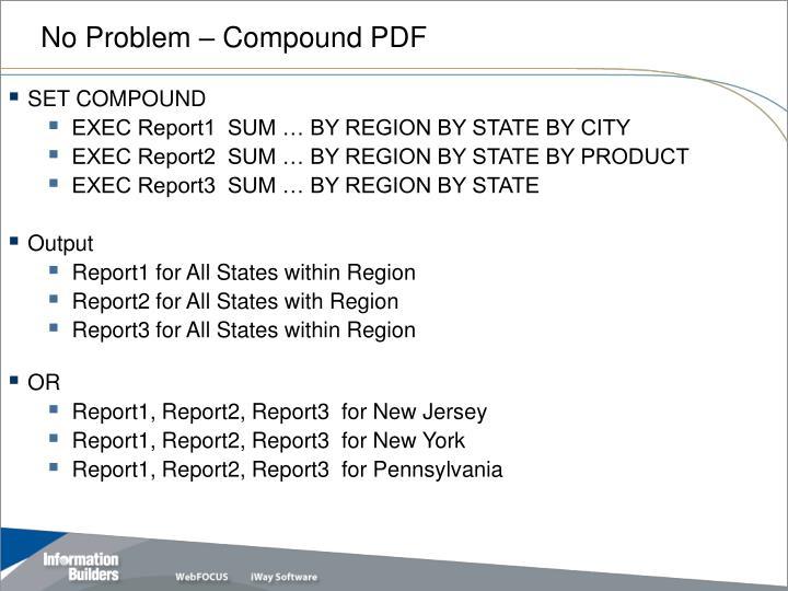 No Problem – Compound PDF