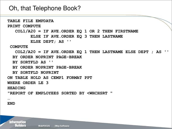 Oh, that Telephone Book?