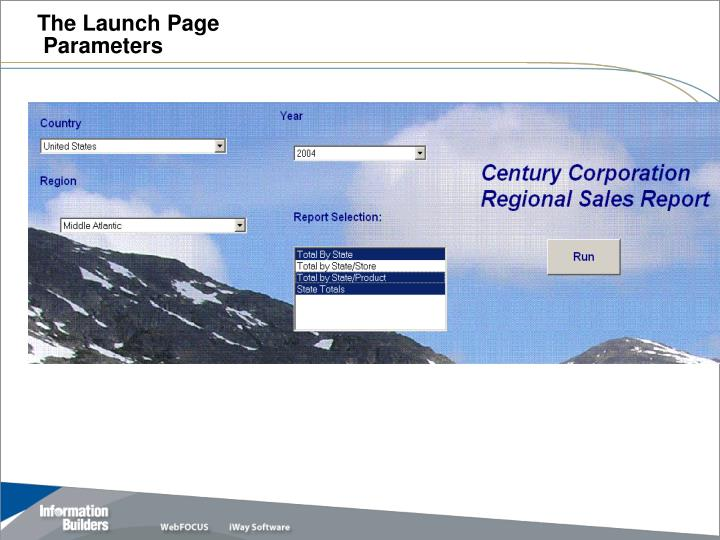 The Launch Page