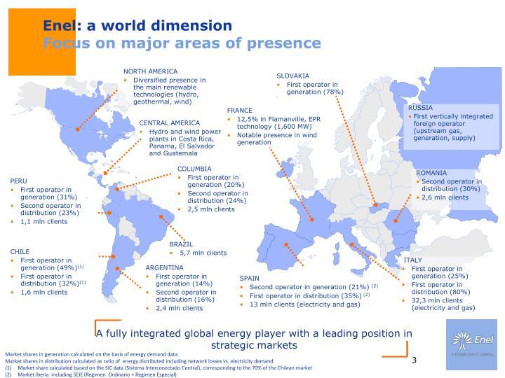 Enel: a world dimension