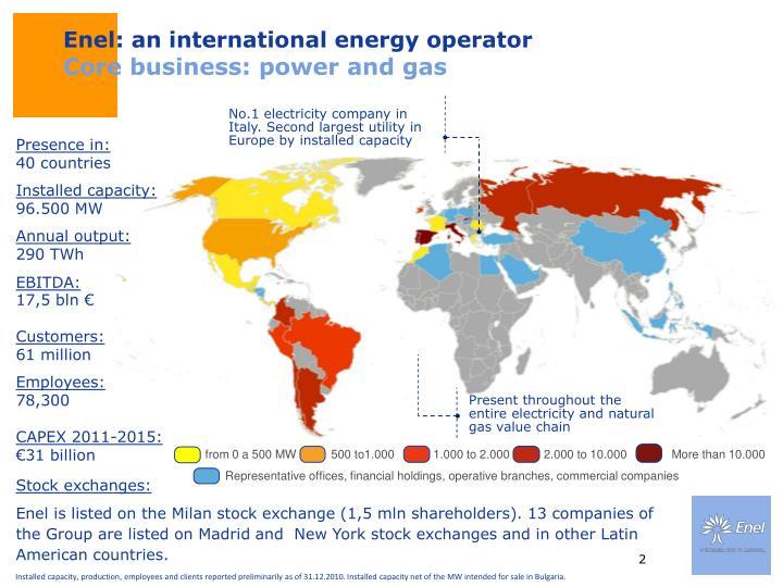 Enel: an international energy operator