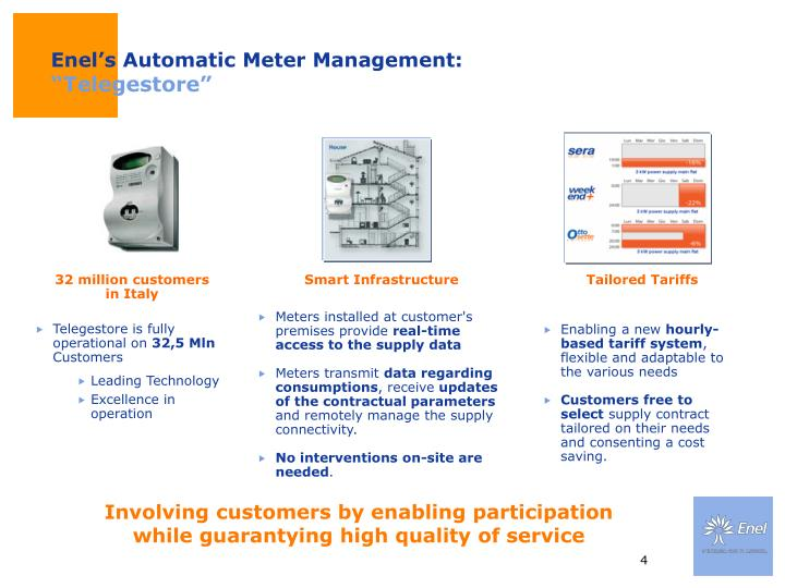 Enel's Automatic Meter Management: