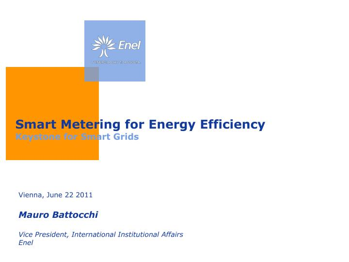 smart metering for energy efficiency keystone for smart grids