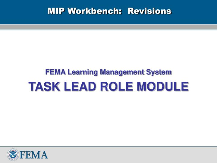 mip workbench revisions