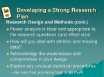 developing a strong research plan5