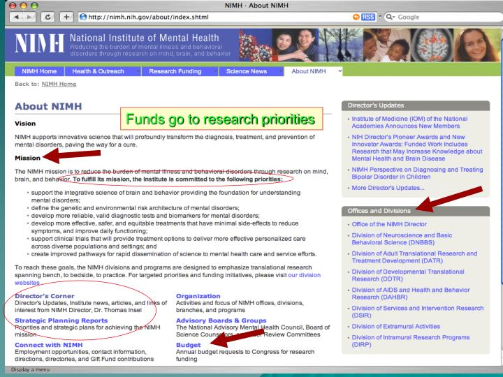 Funds go to research priorities