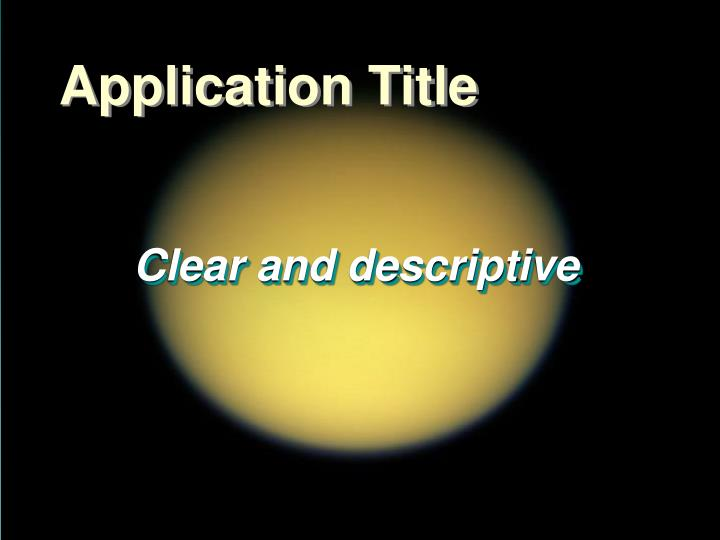 Application Title
