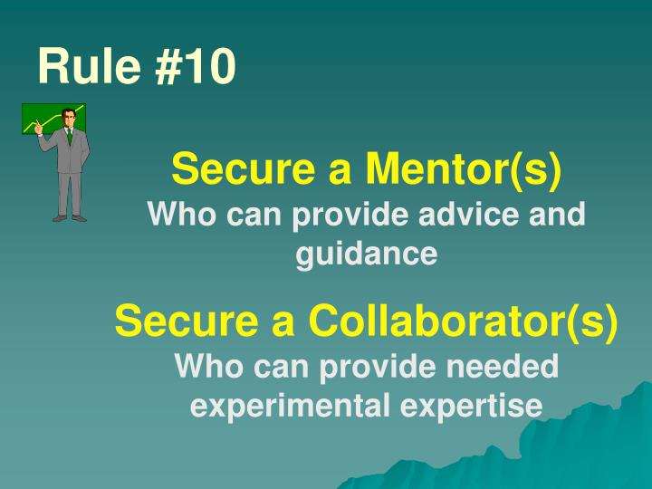 Secure a Mentor(s)