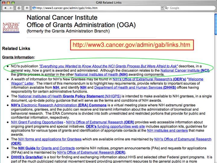 http://www3.cancer.gov/admin/gab/links.htm