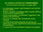 le conclusioni di nierenberg giornate pisane di psichiatria 5 giugno 2009