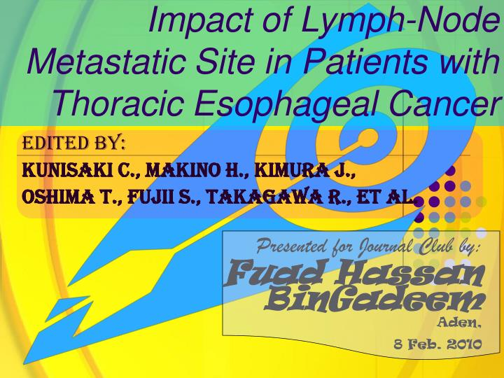 Impact of lymph node metastatic site in patients with thoracic esophageal cancer