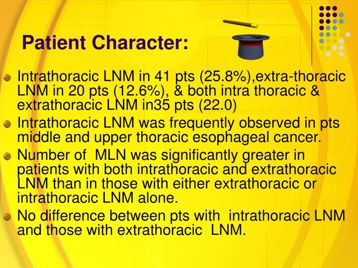 Patient Character: