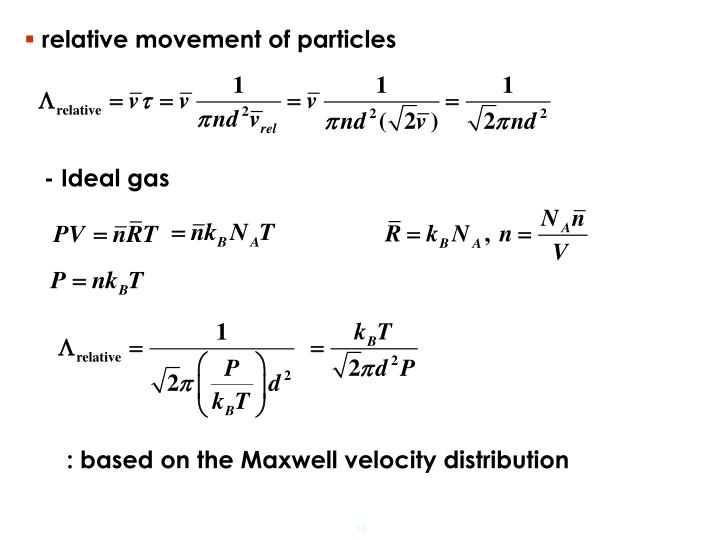 relative movement of particles